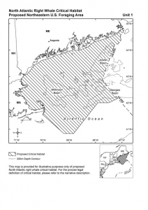Figure 2: Specific Area on which are found the Essential Features of North Atlantic Right Whale Foraging Habitat