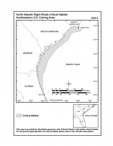 Figure 3: Proposed Southeastern Calving Critical Habitat for North Atlantic Right Whales